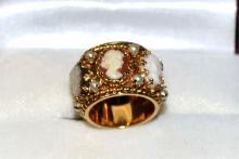 14kyg Cameo Ring