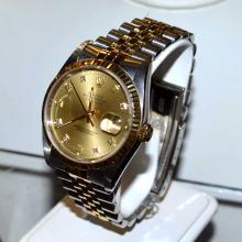 Man's Stainless & 18kyg Rolex Datejust Watch