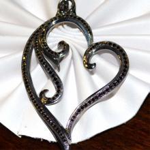 Black Diamond Heart Pendant By Scott Kay