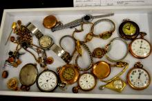 Lot of Pocket Watches & Jewelry