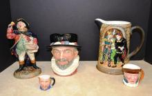 Lot of Royal Doulton and English Mugs and Pitcher