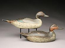 Pair of pintails, Mason Decoy Factory, Detroit, Michigan, 1st quarter 20th century.