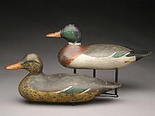 Mallard hen and drake, Mason Decoy Factory, Detroit, Michigan.