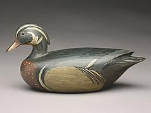 Hollow carved wood duck drake, Mark McNair, Craddockville, Virginia.