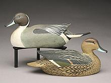Pair of 1/4 size pintails, Ward Brothers, Crisfield, Maryland.