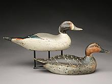Pintail hen and drake, Mason Decoy Factory, Detroit, Michigan.