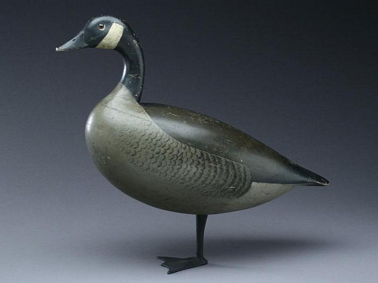 Important standing Canada goose, Charles Schoenheider, Sr., Peoria, Illinois, circa 1910.