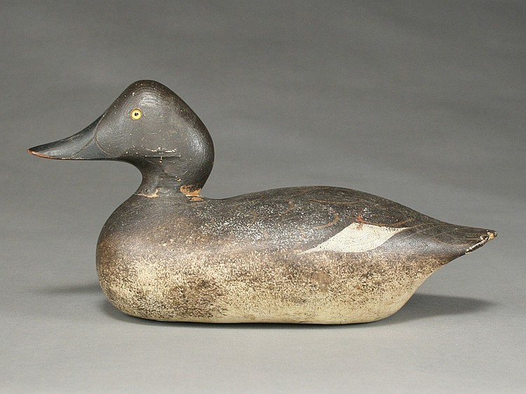 Rare goldeneye hen, Mason Decoy Factory, Detroit, Michigan.