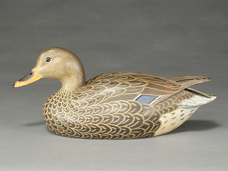 Hollow carved mallard hen, John McLoughlin, Bordentown, New Jersey.