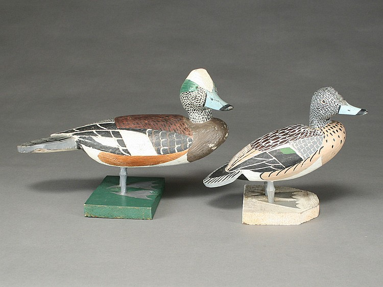Pair of standing widgeon, Lloyd Tyler, Crisfield, Maryland.