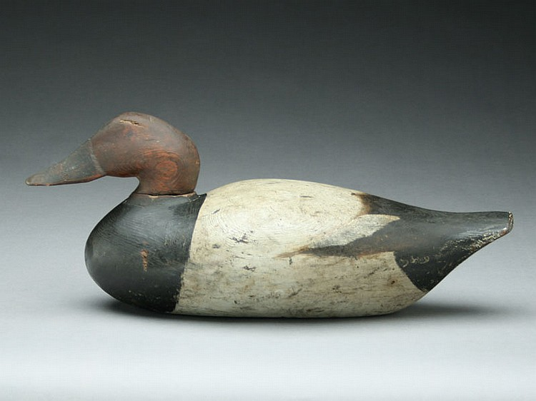 Canvasback drake, Peterson Decoy Factory, Detroit, Michigan, last quarter 20th century.