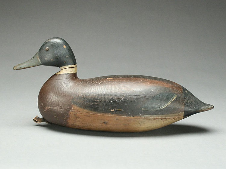 Exceptionally rare and early mallard drake, Harry V. Shourds, Tuckerton, New Jersey, last quarter, 19th century.