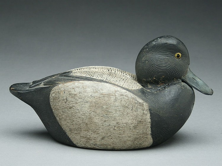 Well carved bluebill drake, Nolie Smith.