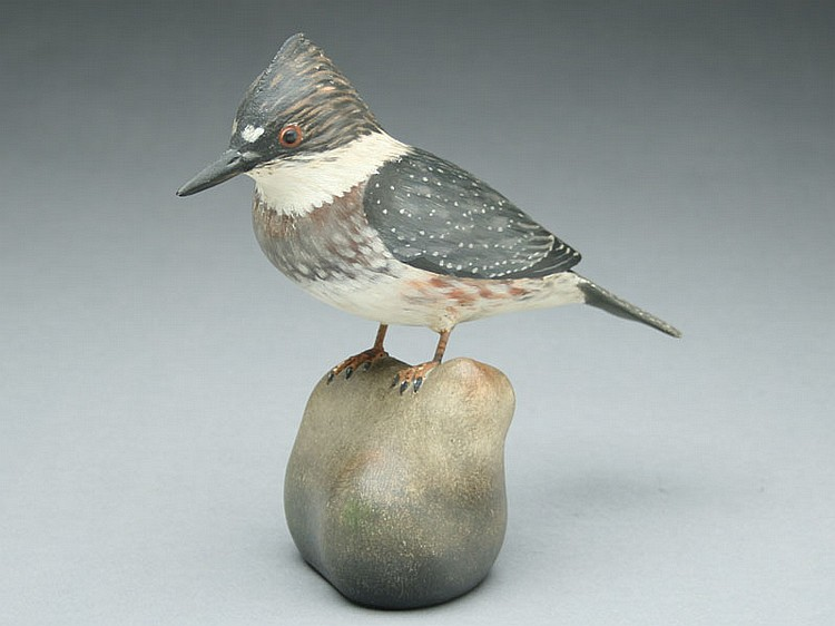 Decorative kingfisher, A.E. Crowell,  East Harwich, Massachusetts.