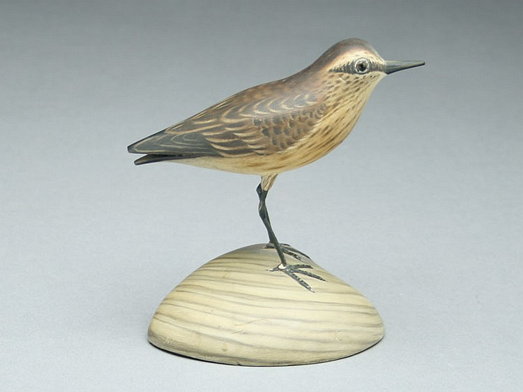 Full size decorative sandpiper, A.E. Crowell, East Harwich, Massachusetts.