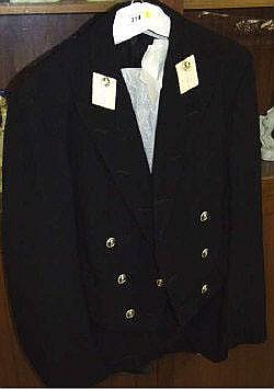 A Royal Navy mess dress uniform (midshipman) in
