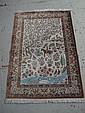 PICTORIAL HAND KNOTTED SILK CARPET