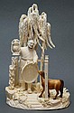 CARVED IVORY FIGURAL GROUP