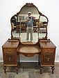 ART DECO VANITY WITH SHAPED MIRROR