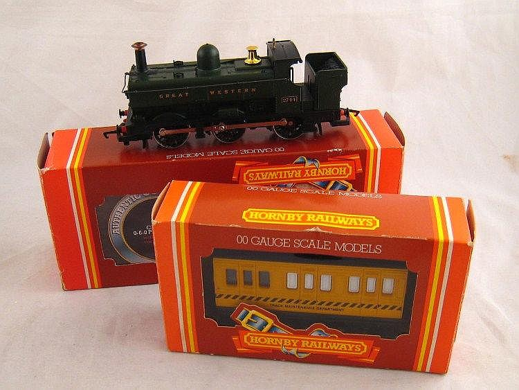 Two Hornby Dublo models, an 0-6-0 Pannier tank