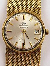 An 18 carat gold lady's Omega wristwatch with
