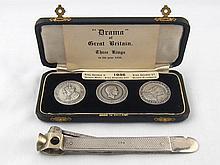 A cigar cutter with silver engine turned hallmarke