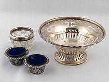 Mixed silver. A bonbon dish with pierced bowl and