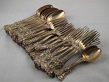 Tiffany & Co. A part canteen of sterling silver, Q
