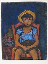 Morris Kestelman. British 1905-1998. 'Boy in Chair