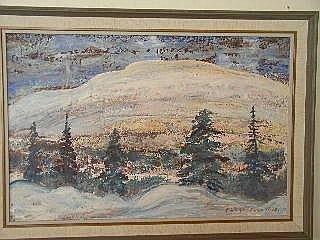 Taulu, sign EINO SAARNIO -72, tunturimaisema, 36x50 cm