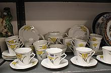 20th cent. Czech Art Deco style teaset comprising