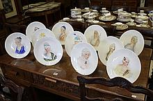Late 19th cent. Brownfield ceramics: Plates