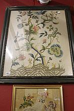 *19th cent. Woolwork tapestry of a Tree of Life
