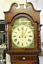 19th cent. Oak and Mahogany Longcase clock.
