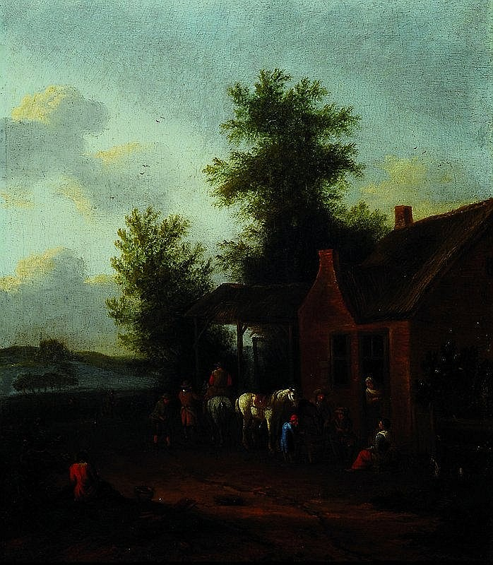 Dutch Monogrammist, around 1680-1720, Farmhouse
