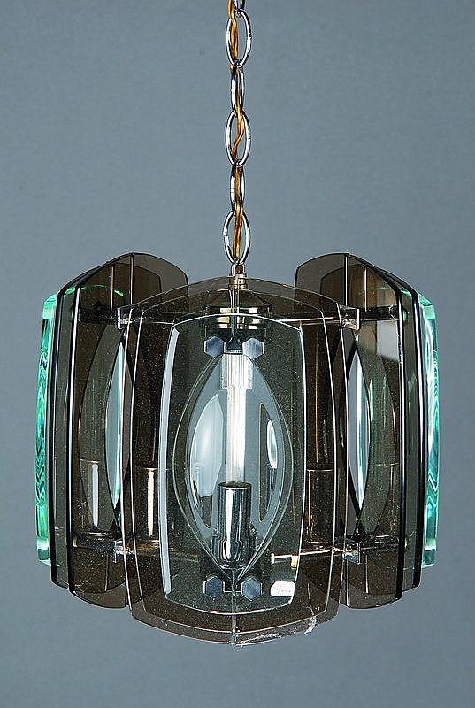 Deckenlampe, Fontana Arte, Metallmontur,