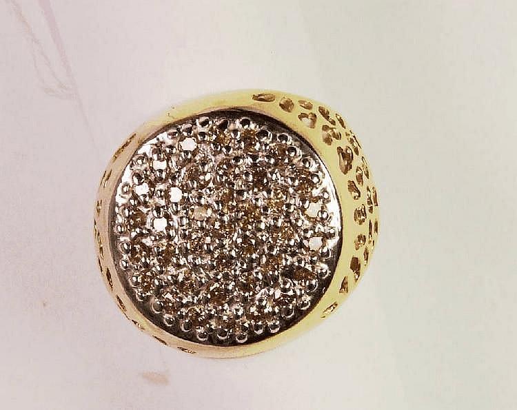 Ring mit Brillanten, GG/WG 585/000, Brillanten