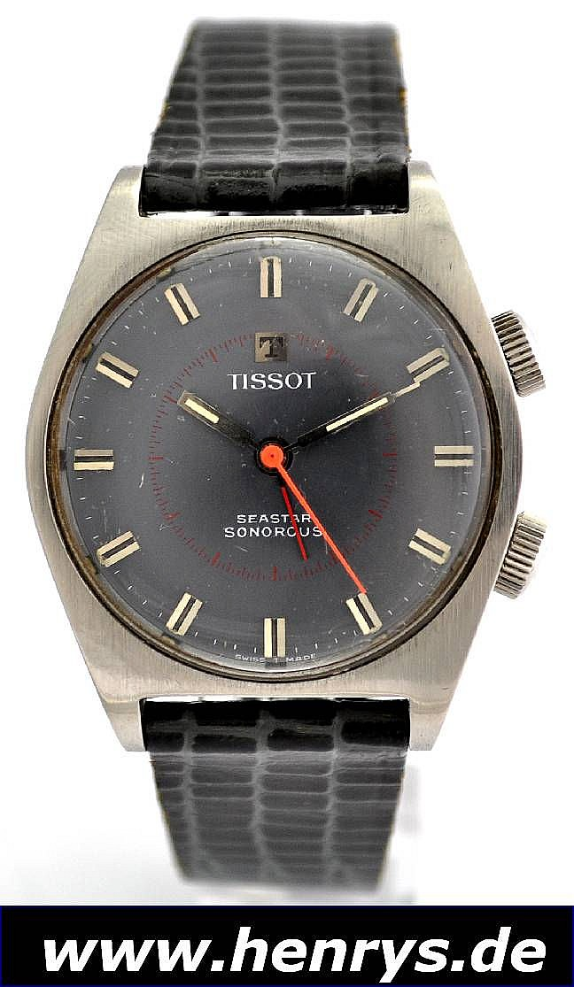 TISSOT Armbandwecker Seastar Sonorous, Handaufzug,