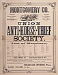 MONTGOMERY CO. UNION ANTI-HORSE THIEF SOCIETY  19th cen