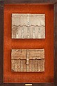 FRAMED ITALIAN FOLIOS 16th century 45-1/4 x 30-1/4 inch