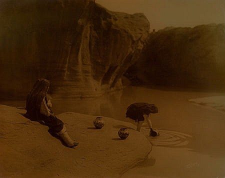 EDWARD SHERIFF CURTIS (American, 1868-1952) At the Old
