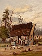 WILLIAM AIKEN WALKER (American, 1838-1921) Wash Day Oil
