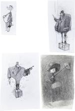 ParaNorman Spooks and Ghosts Concept Sketch Original Ar