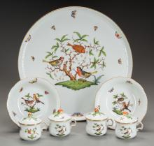 EIGHTEEN PIECES OF HEREND PORCELAIN IN THE ROTHSCHILD B