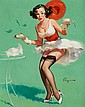 GIL ELVGREN (American, 1914-1980) Fresh Breeze, Brown