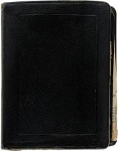 A Frank Sinatra Address Book, 1960s.