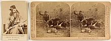 Two Old West Photographs including Seth Klein and a Bear