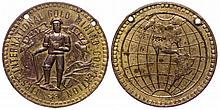 First International Gold Mining Convention medal