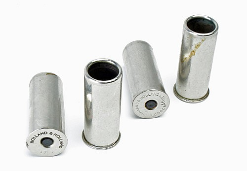 HOLLAND AND HOLLAND TWO PAIRS OF 16-BORE NICKEL-PLATED SNAP CAPS