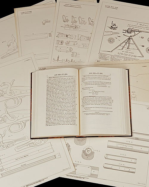 'ILLUSTRATED BRITISH FIREARMS PATENTS 1743-1853' BY STEPHEN V. GRANCSAY AND MERRILL LINDSAY